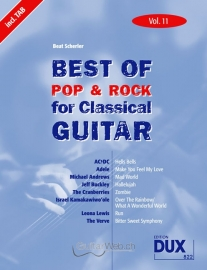 Best of Pop & Rock for Classical Guitar, Vol.11