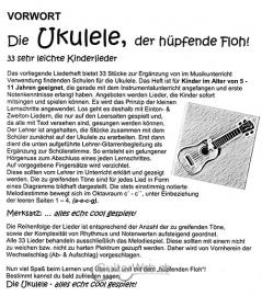 die ukulele der h pfende floh 33 sehr leichte kinderlieder. Black Bedroom Furniture Sets. Home Design Ideas