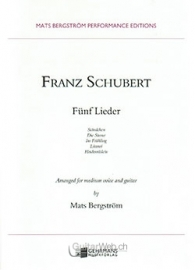 Fünf Lieder (medium voice & guitar)