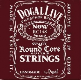 Round Core Acoustic Guitar Strings light